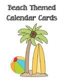 Beach Themed Calendar Cards