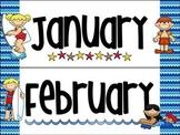 Beach Themed Calendar Headings