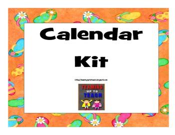 Beach Themed Calendar Kit