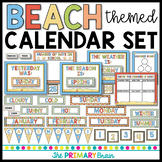 Beach Themed Calendar Set Including Weather, Seasons, Daily Math and more!