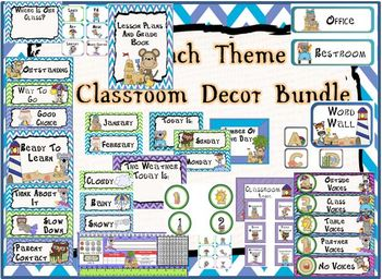 Beach Themed Classroom Decor - 108 pages