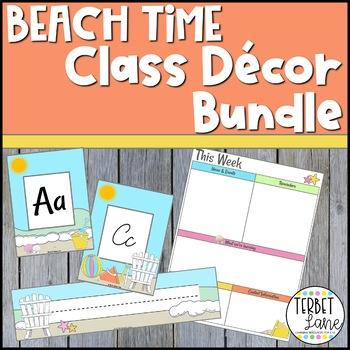 Beach Themed Classroom Decor Bundle