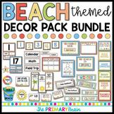 Beach Themed Classroom Decor Pack BUNDLE