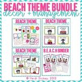 Beach Themed Classroom Decor/Management Bundle