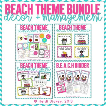 Beach Themed Classroom Decor/Management Bundle