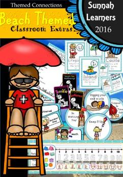Beach Themed Classroom Extras (back to school / coastal classroom)