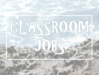 Beach Themed Classroom Jobs, Alphabet, and Numbers