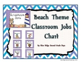 Beach Themed Classroom Jobs Chart