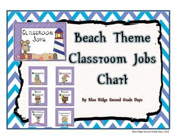 Beach Themed Classroom Jobs Chart