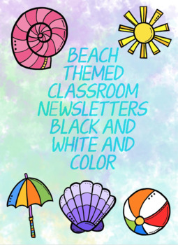 Beach Themed Classroom Newsletter  {EDITABLE}
