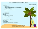 Beach Themed Classroom Organization and Work Stations