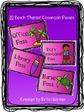 Beach Themed Classroom Passes