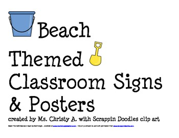 Beach Ocean Themed Classroom Signs & Posters