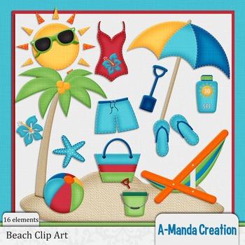 Beach Themed Clip Art