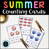 Beach Themed Clip Cards Counting 1 – 20