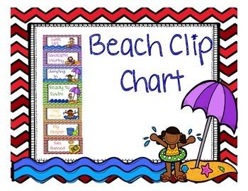 Beach Themed Clip Chart