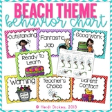 Beach Themed Clip Chart and Behavior Log: Behavior Managment Tool