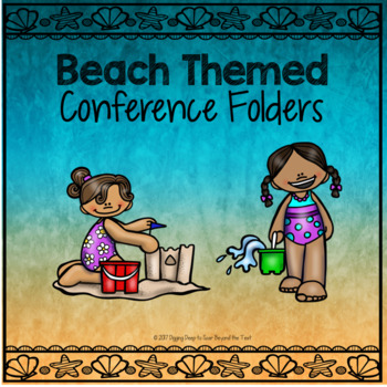 Beach Themed Conference Folders