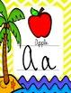 Beach Themed Cursive Alphabet