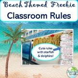 Beach Themed DOLPHIN Cute Class Rules