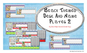 Beach Themed Desk and Name Plates