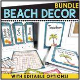 Editable Beach Theme Classroom Decor ~ 400 Pages of Beach Decor!
