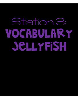 Beach Themed End of the Year Review Station 3 - Vocabulary Jellyfish