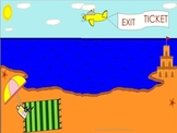 Beach Themed Exit Ticket Poster
