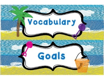 Beach Themed Focus Wall Banner and Headings