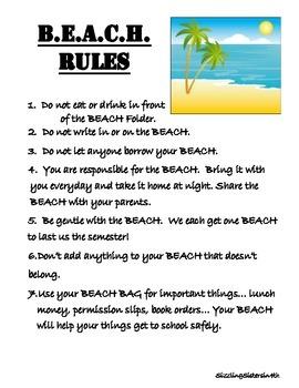 Beach-Themed Folder