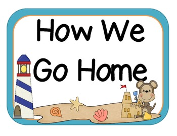 Beach Themed How We Go Home Poster Or Clip Tracker Set