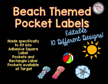 Beach Themed Labels EDITABLE