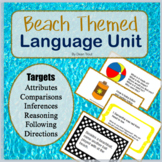 Summer Themed Speech Therapy The Beach