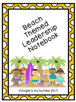 Beach Themed Leadership Notebook