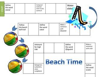 Beach Themed Lesson Plan1