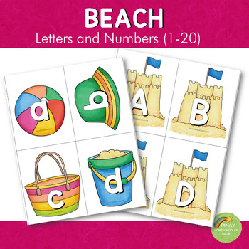 Beach Themed Letter and Number Cards