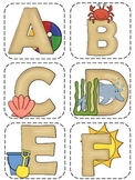 Beach Themed Letters for Word Wall
