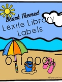 Beach Themed Lexile Library Labels