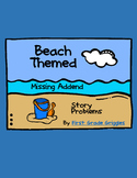 Beach Themed Missing Addend Story Problems