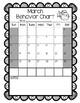 Editable Beach Themed Monthly Behavior Calendars