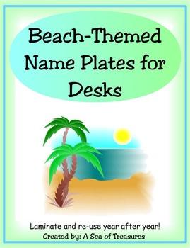 Beach Themed Name Plates for Desks