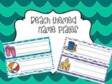 Beach Themed Nameplates