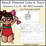 Beach Themed Number Color and Trace