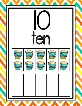 Beach Themed Number Posters 0-20
