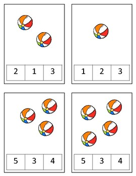 Beach Themed Number Practice 1-10