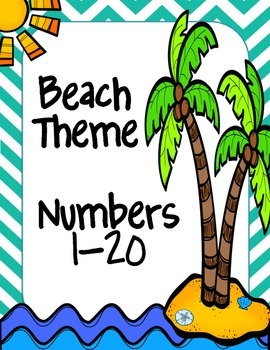Beach Themed Number Line 1-20