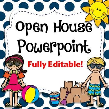 Beach Theme Open House Powerpoint