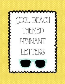 Beach Themed Pennant Letters
