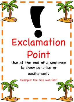 Beach Themed - Punctuation Posters