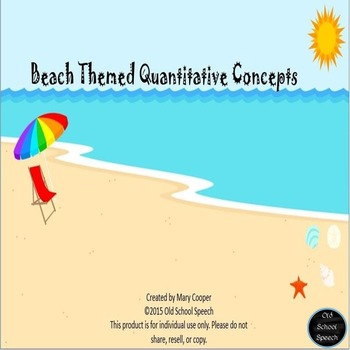 Beach Themed Quantitative Concepts